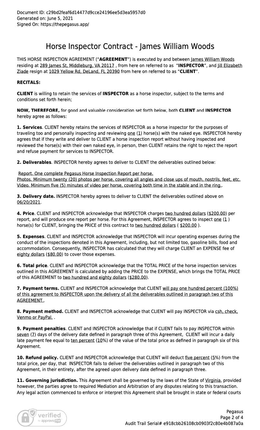Contract Details